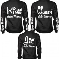 King - Queen - Jr. Sweater Family 3er Set selbst gestalten